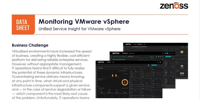 Monitoring VMware vSphere