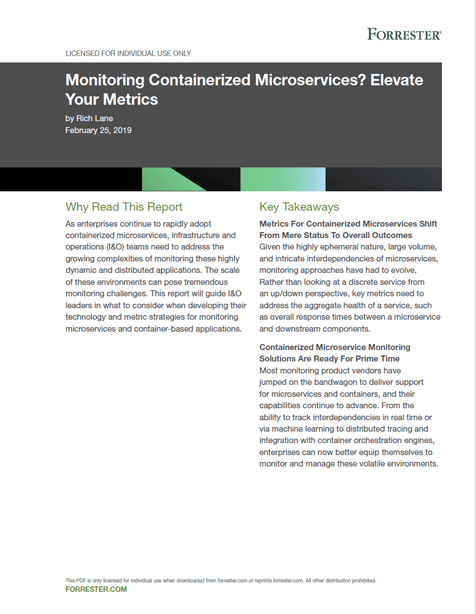 Forrester: Monitoring Containerized Microservices - Elevate Your Metrics