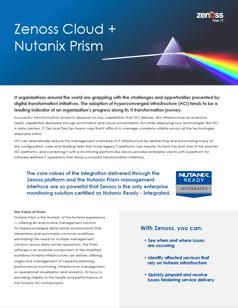 Zenoss Cloud + Nutanix Prism
