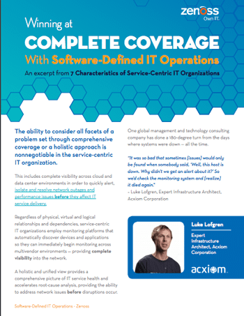 Complete Coverage With Software-Defined IT Operations