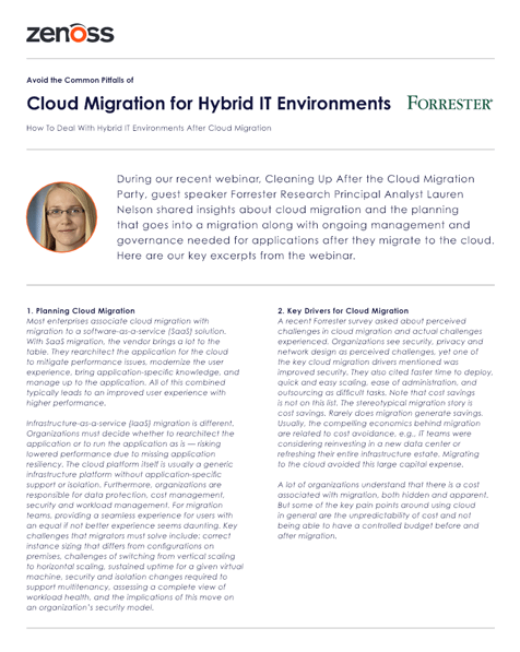Forrester: Cloud Migration for Hybrid IT Environments