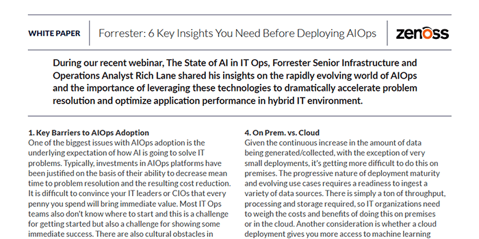 Forrester: 6 Key Insights You Need Before Deploying AIOps