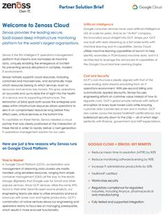 Zenoss-Google Cloud Partner Solution Brief