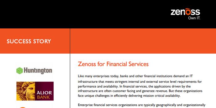 Zenoss for Financial Services