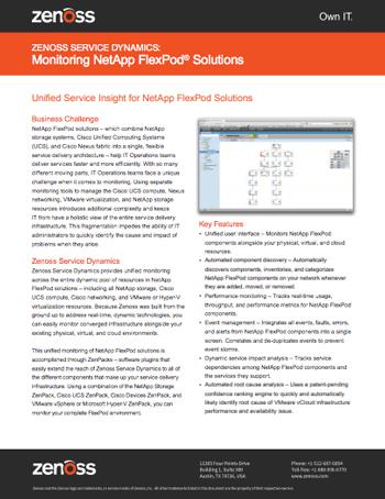 Monitoring NetApp FlexPod Solutions