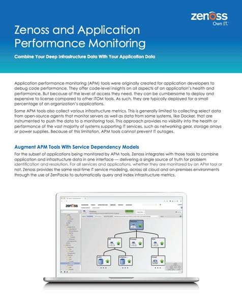 Zenoss and Application Performance Monitoring