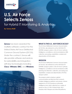 U.S. Air Force Selects Zenoss for Hybrid IT Monitoring & Analytics
