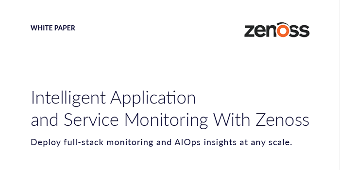 Intelligent Application and Service Monitoring With Zenoss