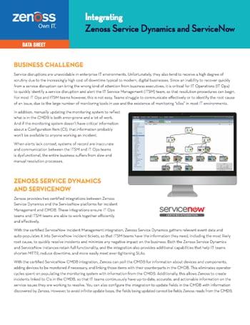 Integrating Zenoss & ServiceNow