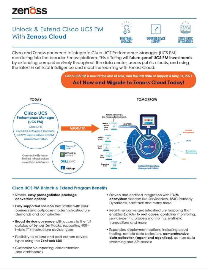 Unlock & Extend Cisco UCS PM With Zenoss Cloud