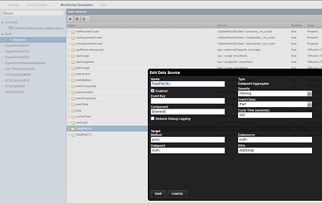 Create Data Source - Hypervisor Network Use