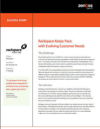 Rackspace Success Story
