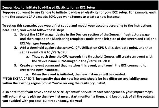 Zenoss How to Initiate Load-Based Elasticity for an EC2 Setup