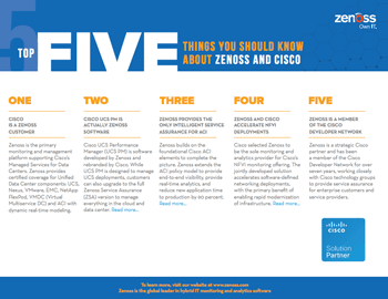 Top 5 Things You Should Know About Zenoss & Cisco