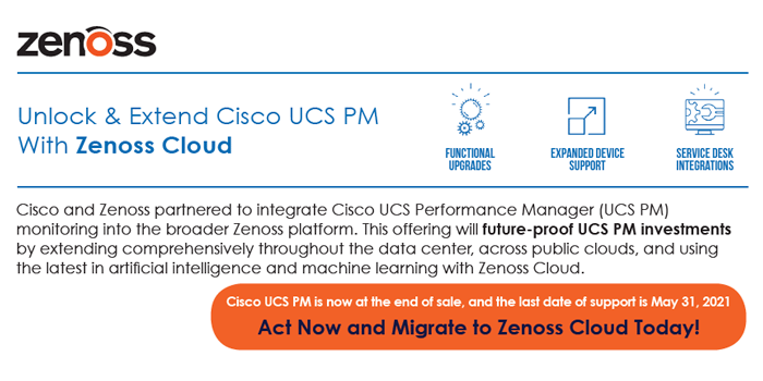 Unlock & Extend Cisco UCS PM With Zenoss Cloud