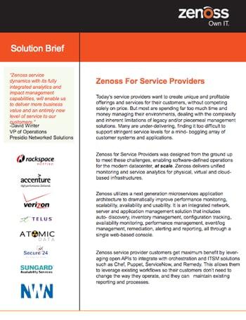 Service Provider Solution Brief