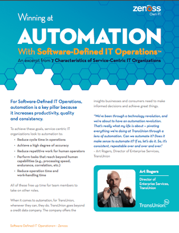 Automation With Software-Defined IT Operations