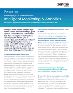 Forrester Insights: Powering Digital Transformation With Intelligent Monitoring & Analytics