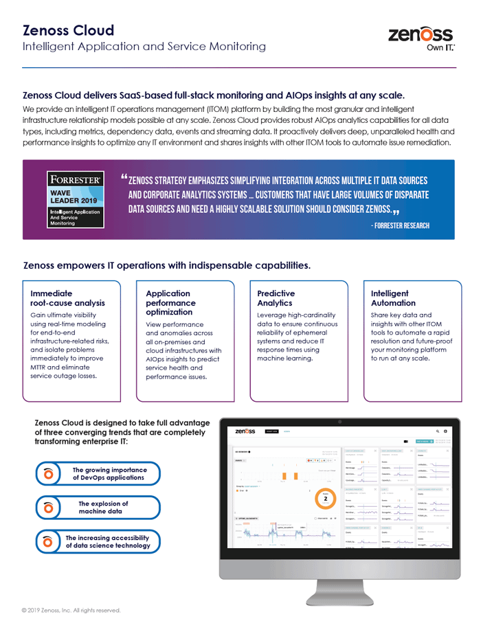 Zenoss Cloud Solution Brief