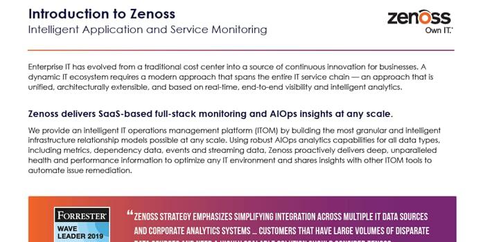 Zenoss Solution Brief