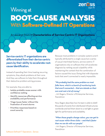 Root-Cause Analysis With Software-Defined IT Operations