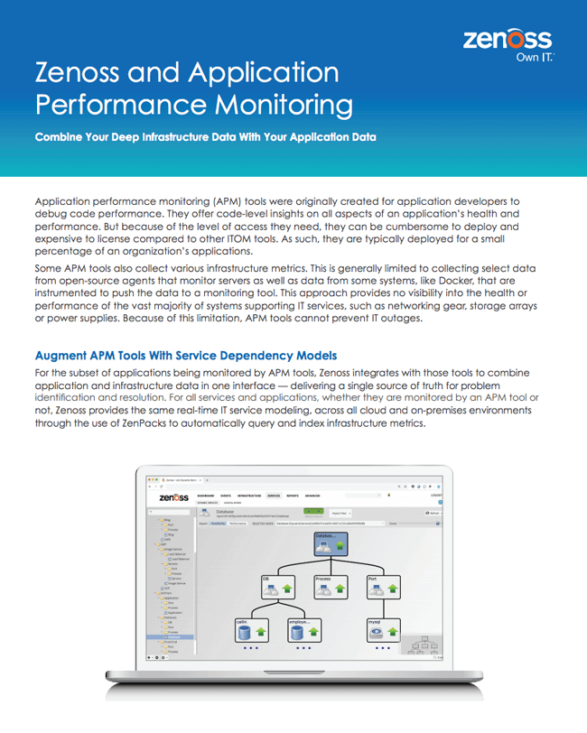 Zenoss and Application Performance Monitoring
