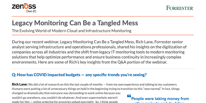 Legacy Monitoring Can Be a Tangled Mess