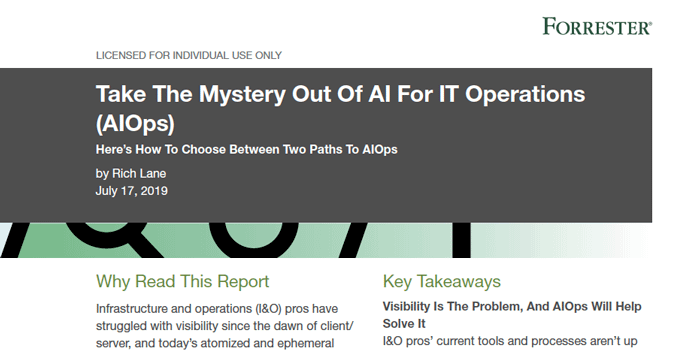 Forrester: Take the Mystery Out of AIOps