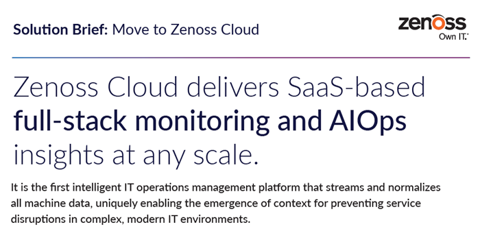 Solution Brief: Move to Zenoss Cloud