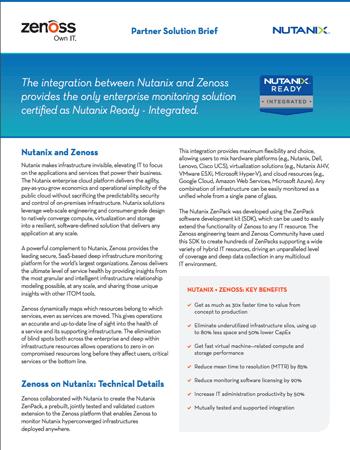Zenoss-Nutanix Partner Solution Brief